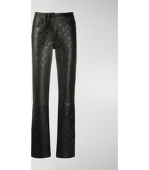 marine serre half-moon-print leather trousers