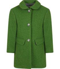 bonpoint green coat for girl