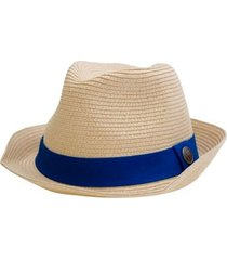 sombrero geek blanco/cinta azul fight for your right