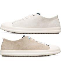 camper twins, sneaker uomo, grigio/beige, misura 46 (eu), k100550-002