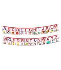 varal infantil brink sul alfabeto multicolorido
