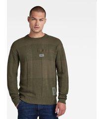 g-star d20410 b155 charly knit trui c703 combat green -
