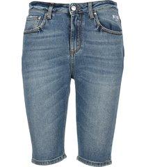 msgm fitted denim shorts
