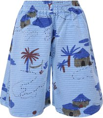 bobo choses blue coulotte pants with stylised pants