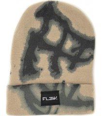 gorro de lana beanie epic tie dye beige flaw