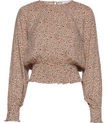 rodebjer atlas blouse lange mouwen bruin rodebjer