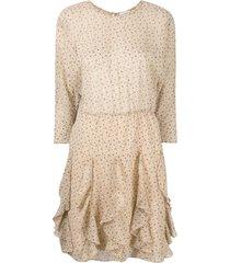 by malene birger reza floral flutter day dress - neutrals