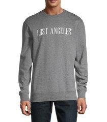 kinetix men's lost angeles pima cotton sweatshirt - grey - size l