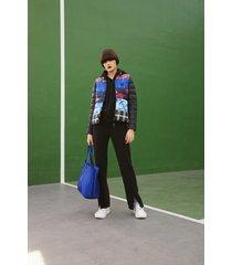 patch prints eco padded jacket - blue - s