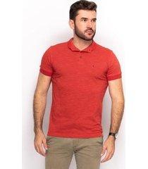 camiseta polo teodoro lisa slim dia a dia conforto masculina - masculino