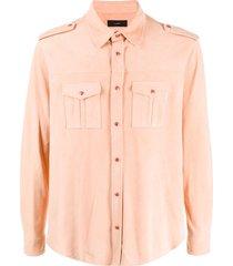 alanui military shirt - pink