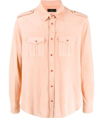 alanui military shirt - pink
