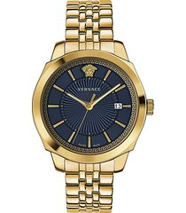 icon classic ip gold stainless steel bracelet watch