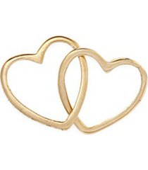 'linked hearts' 18k yellow gold charm - always together