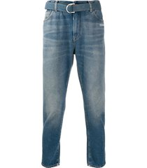 off-white belted slim-fit jeans - blue