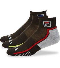 3-pack logo ankle socks