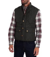 men's barbour lowerdale quilted vest, size x-large - green