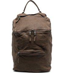 giorgio brato distressed cotton backpack - brown