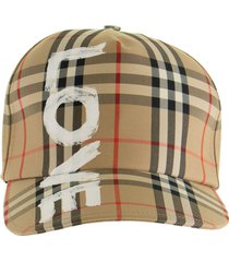 burberry love print vintage check baseball cap