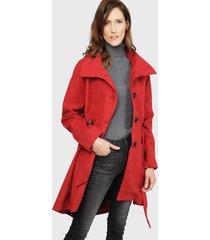 abrigo wados rojo - calce regular