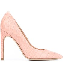 paul warmer croco-embossed pumps - pink