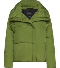 slfaddy puffer jacket b gevoerd jack groen selected femme