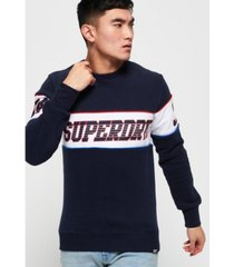 superdry men's retro stripe sweatshirt