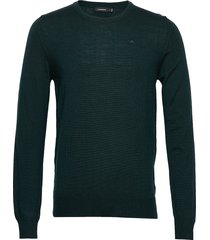 lyle-true merino gebreide trui met ronde kraag groen j. lindeberg