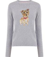 trui met hond van lovertjes