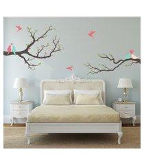 adesivo quartinhos parede quarto pássaros amor