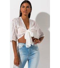 akira summer breeze tie front blouse