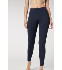calzedonia active leggings woman blue size l