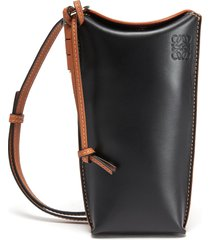 gate pocket' leather pouch