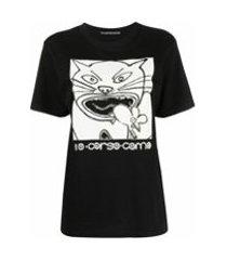 10 corso como camiseta com estampa de gato - preto