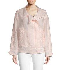 long-sleeve cotton-blend jacket