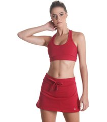 shorts saia supplex - vermelho - lãquido - vermelho - feminino - dafiti
