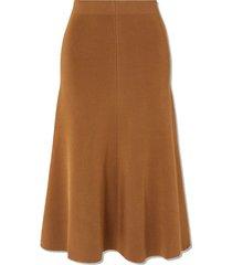 stretch-knit midi skirt