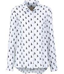 camicia boxy (bianco) - rainbow