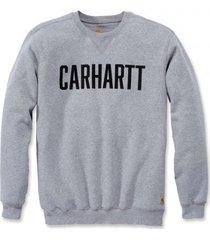 carhartt trui men graphic crewneck sweat heather grey-s