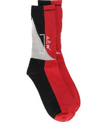 a-cold-wall* overlock recut socks - red