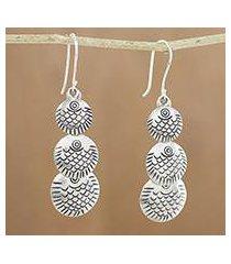 silver dangle earrings, 'karen scales' (thailand)