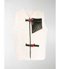 john elliott buckle-fastening shearling vest