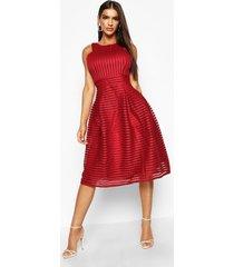 boutique panelled full skirt skater dress, berry