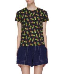 'rylyn' bead pineapple print t-shirt