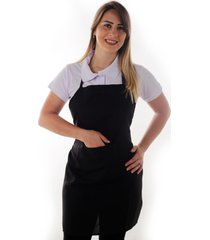 avental premium oxford peito com bolso- preto ks casual&sport