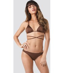 trendyol ess bikini bottom - brown