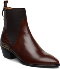 lizzi chelsea shoes boots ankle boots ankle boots with heel brun gant