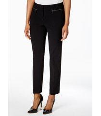 nine west zip-pocket pants