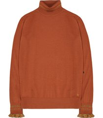 10 feet fine knit roll neck pullover bruin