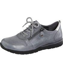skor med snörning och dragkedja naturläufer grå